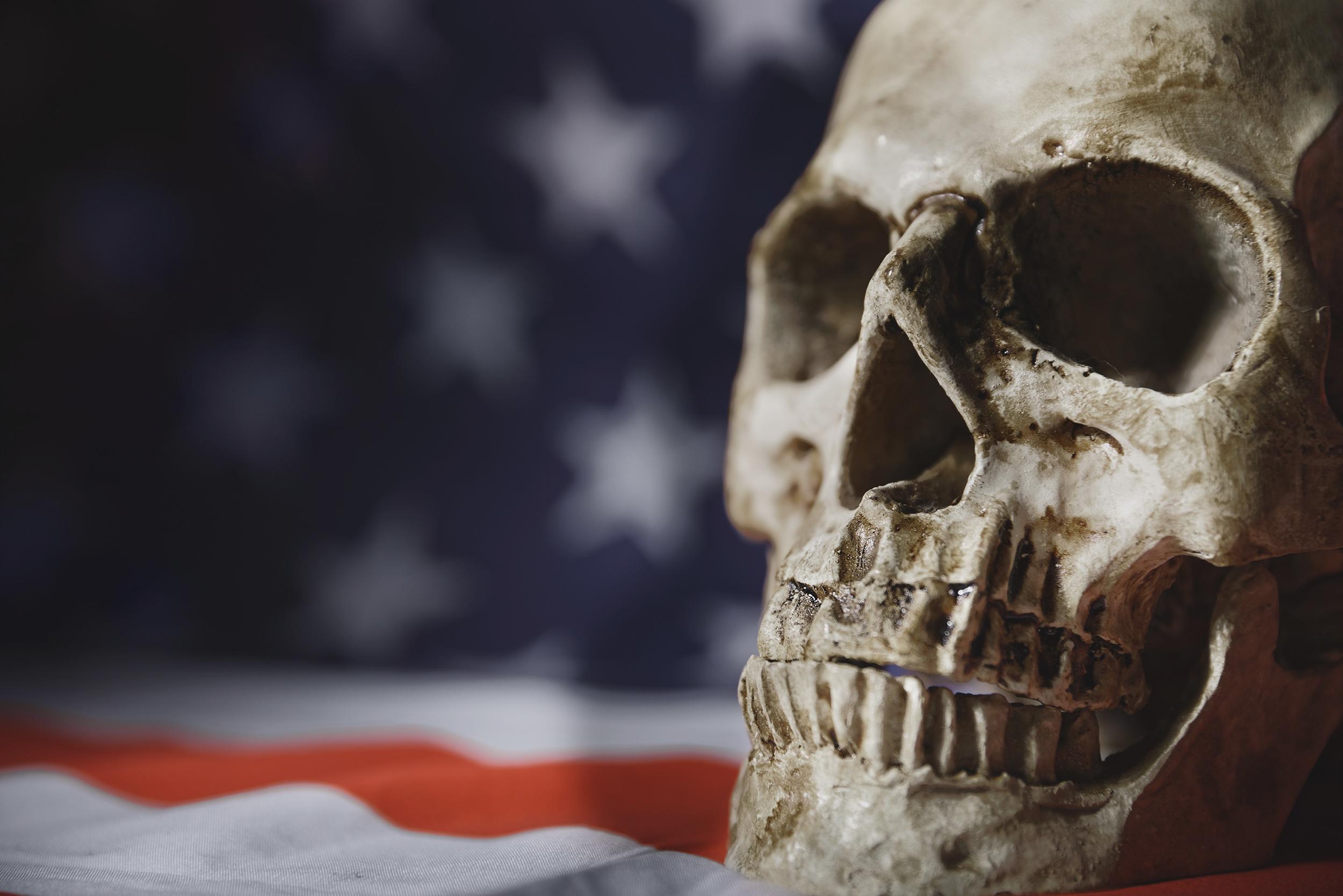 Skull on Flag
